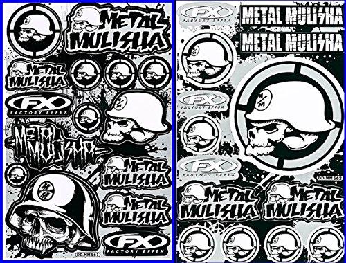 2 Energy Drink Metal Mulisha Yamaha Kawasaki Motocross Race Racing F1 Logo Sponsor Sticker Decal Skateboard Car Bike Bicycle Kid Wall Helmet Decoration MU2-Silver (Metal Mulisha Decals compare prices)