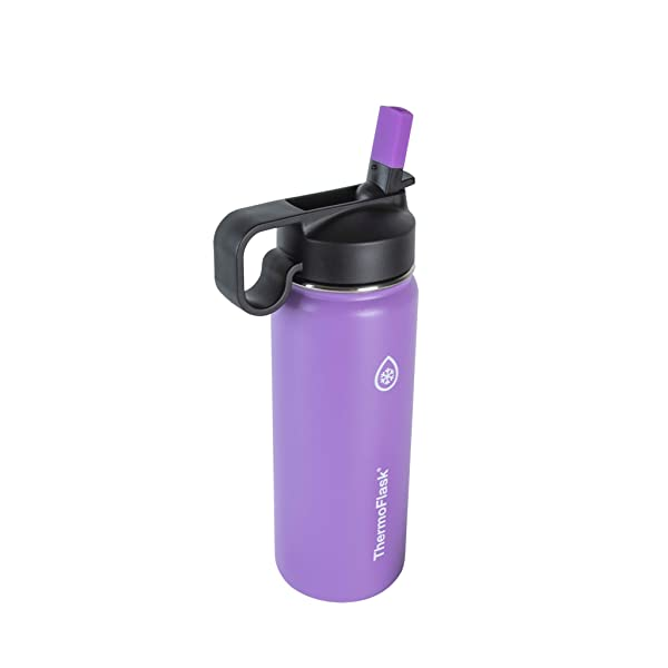 Thermoflask 50059 Double Stainless Steel Insulated Water Bottle, 18 oz, Plum (Color: Plum, Tamaño: 18 oz)