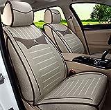 (ファーストクラス)FirstClass シートカバー リネン 全席シートクッション 5人乗り車汎用 コルベット ベージュ 6pcs