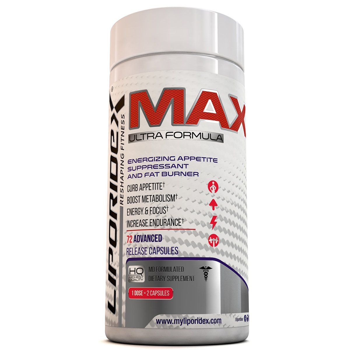 Liporidex MAX thermogenic capsules