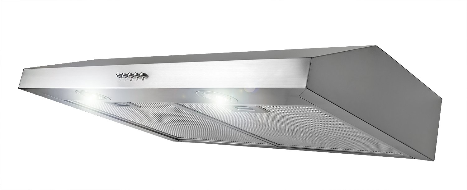 AKDY 30-Inch 3-Speed Stainless Steel Slim Under Cabinet Range Hood AZ-Y0175SS (Silver)