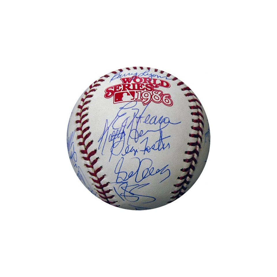 New York Mets 1986 Team Signed World Series Baseball