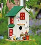 Vogelhaus Vogelhäuschen *Grün* Nistkasten Holz Deko H26cm