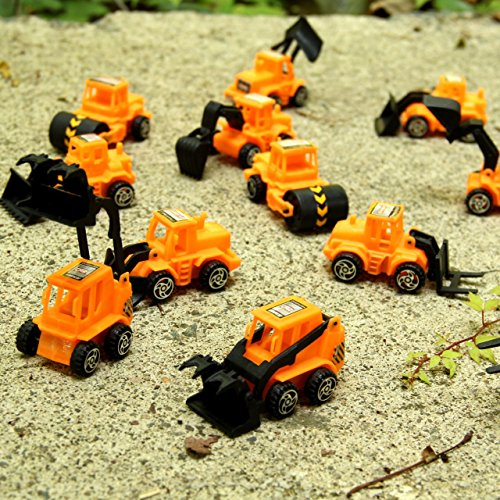 Dazzling Toys Construction Vehicles Pull Back Style - Pack of 6 - Assorted Construction Designs