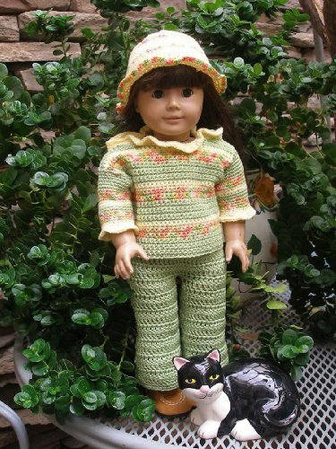 Holly's Green Thumb Crocheting Pattern for 18 inch dolls
