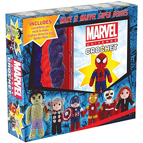 Marvel Hero Crochet Kit - Captain America, Spiderman, Thor, Hulk & Iron Man
