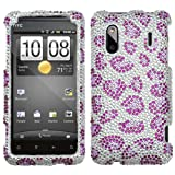 HTC Hero S, EVO Design 4G, Hero 4G/Kingdom Diamond Crystal Bling Protector Case - Purple Leopard