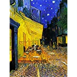 Tallenge - The Cafe Terrace By Vincent Van Gogh - Small Size Unframed Canvas Art Print For Home And Office Décor (9x12 Inches)