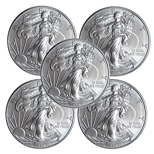 2015 (5) $1 American Silver Eagle 1 oz. (Brilliant Uncirculated) US Mint