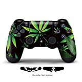 Skins for PS4 Controller - Stickers for Playstation 4 Games - Decals Cover for PS4 Slim Sony Play Station Four Controllers PS4 Pro Accessories PS4 Remote Dualshock 4 Skin - Weeds Black (Color: Weeds Black)