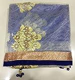 Shree Mira Impex Designer Fancy Blue Net Partywear Wedding Saree Sari