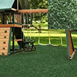 Swing set Playground Rubber Mulch 75 Cu.Ft. Pallet-Forest Green