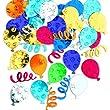 confettis m�talliques ballons multicolore d�coration anniversaire