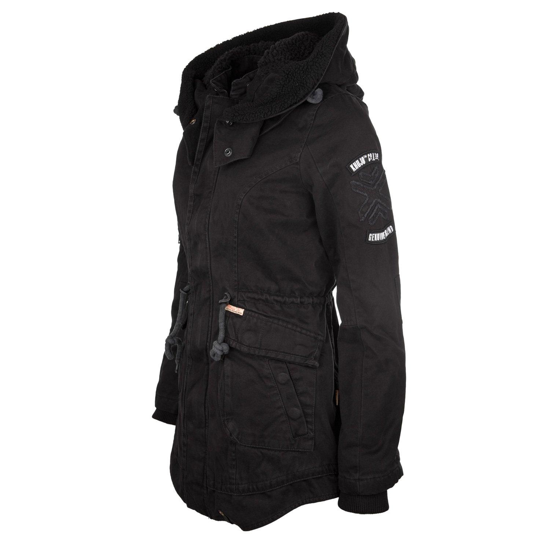 Khujo Havanna Damen Mantel schwarz – Winterjacke im Parka Stil – 1546JK153-200 günstig online kaufen