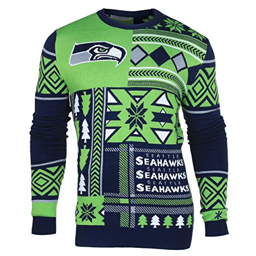NFL-Seattle-Seahawks-Patches-Ugly-Sweater-Green-X-Large