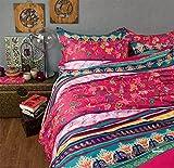FADFAY Home Textile,Modern Boho Style Bedding Set,Elegant Colorful Rainbow Bedding Set,Designer American Country Style Vintage Floral Duvet Covers,4Pcs