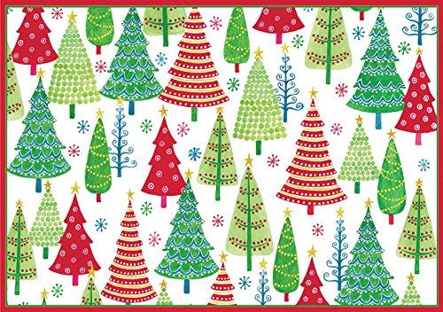 entertaining with caspari dotty trees christmas cards box of 16 home - Caspari Christmas Cards