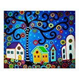 Mexican Town Tree Of Life Painting Posters