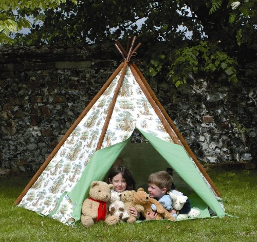 Wigwam/Teepee/Play Canvas Tent - Teddy Bears Picnic