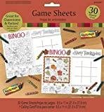 Thanksgiving Game Sheets 30 Count