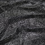 BLACK PREMIUM CRUSHED VELVET FABRIC CRAFT STRETCH VELOUR 60 INCH WIDE 150cm MATERIAL