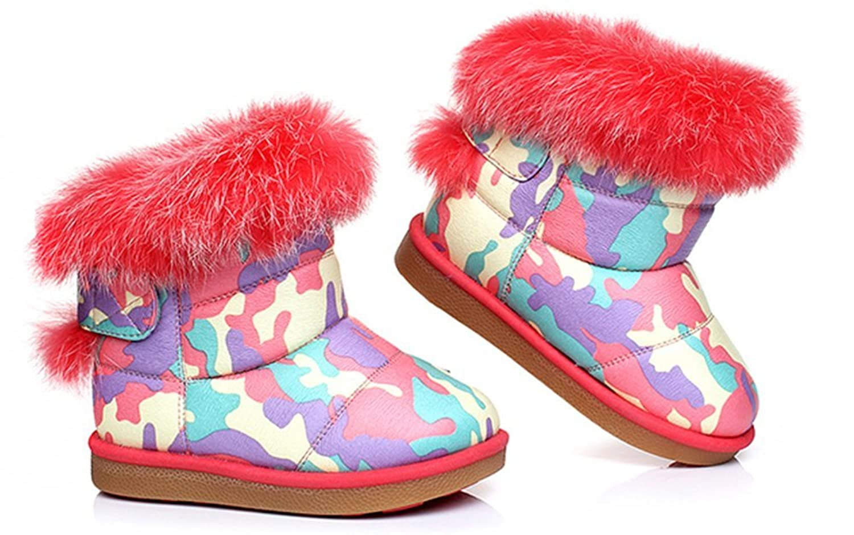 Fashion Baby Kinder Winter warm Anti-Rutsch Leder Stiefel snow boots/Schneestiefel Kinder-Schneeschuhe Jungen Stiefel Mädchenbaumwollstiefel Kinder warmen stiefel Schuhe kaufen