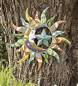 Metal Talavera Sun, Moon And Star Wall Art by Wind & Weather