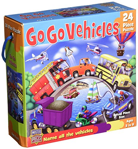"Jigsaw Puzzle Floor 24 Pieces 10.25""X14.25""-Go Go Vehicles - 1"