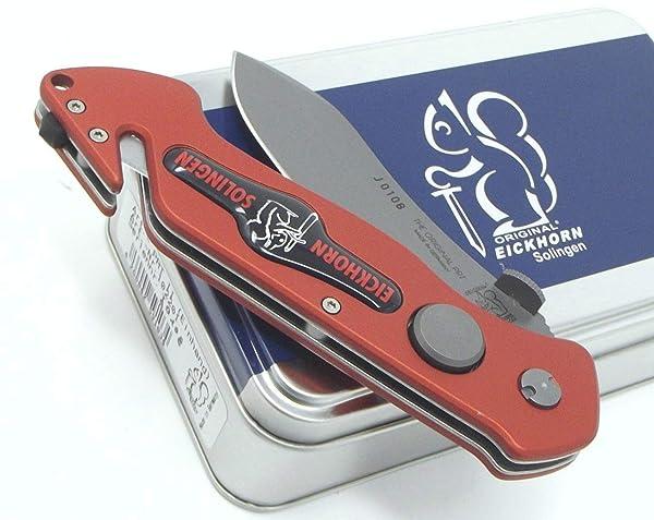 German Made Professional Pocket Rescue Knife PRT II Eickhorn Soligen Böhler N695 Steel (Color: Red)