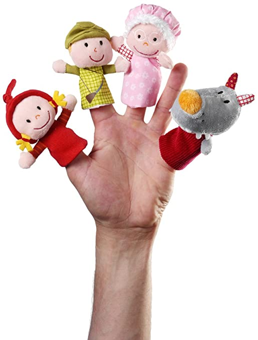 Lilliputiens - 86339 - Marionnettes à doigts - Petit Chaperon Rouge