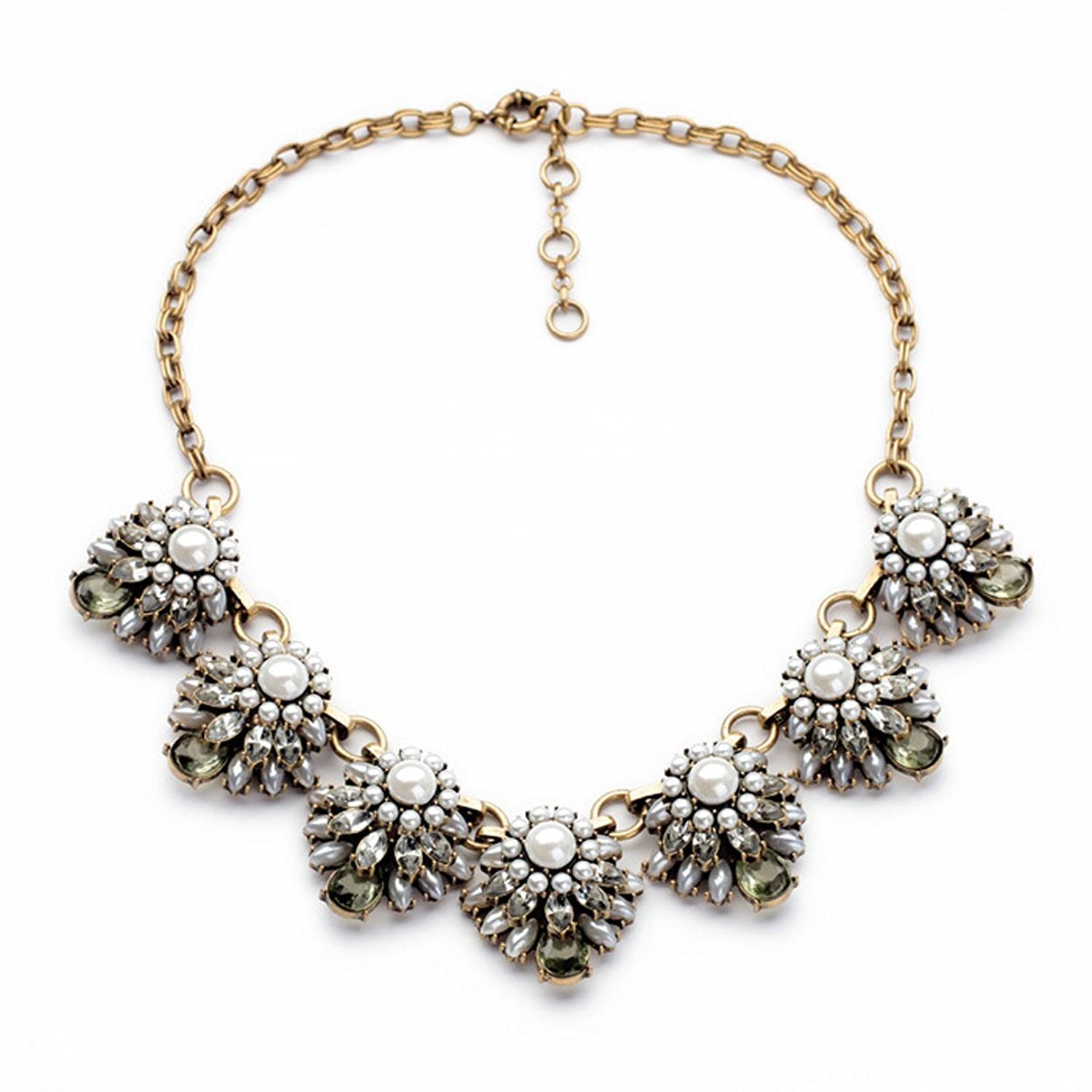 Charmlight Jewelry Popular Vintage Silver Tone Flowers Wild Collar Fashion Necklace Xl00933 wild flowers
