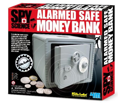 Alarmed Money Safe Money Bank by Kidz Labs Spy Science