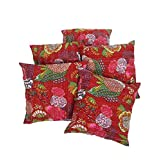 Rajrang Square Cushions Pillowcase Cushion Cover 18 By 18 Inches Set 5 Pcs