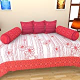 BRiDA Cotton Diwan Set (Set of 6) - Red, BRI108
