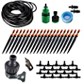 """Koram 360 degree Micro Sprayer and Dripper on Stake Irrigation Gardener's Greenhouse Plant lawn Watering Drip Kit Accessories with 50ft 1/4"""" Blank Distribution Tubing Hose IR-I"""