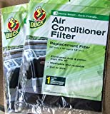 Duck Replacement Air Conditioner Foam Filter, 24-inch by 15-inch by 1/4-inch, 2-Pack