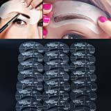 Akak Store Newest 24 Styles 6 Sets Eyebrow Grooming Stencil Kit Template Make Up Shaping Shaper