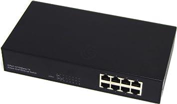 Cablematic - IEEE802.3af 10/100Mbps commutateur PoE (8PoE)