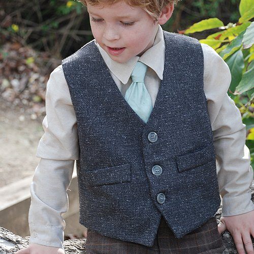 La Petite Couture Grey Special Occasion Dapper Dan Vest Top Boys 6M-10