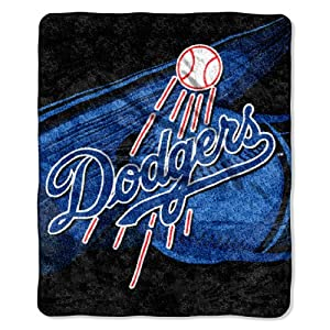 MLB Los Angeles Dodgers Big Stick Sherpa Throw Blanket, 50x60-Inch by Northwest