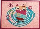 Zutano Owls Rug, Pink