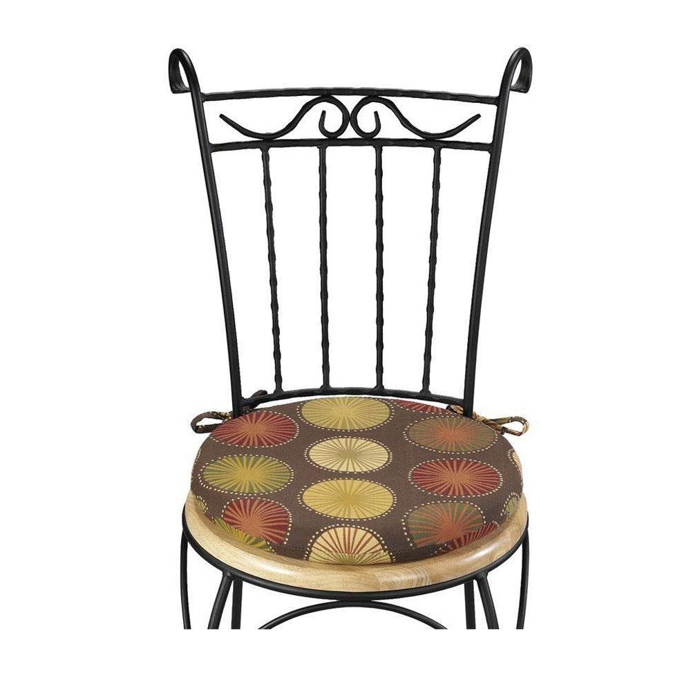 18 all weather round chair cushion berringer choco check price