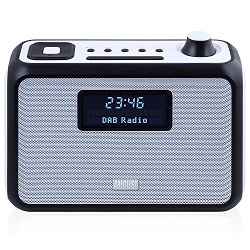 August MB400 - DAB/DAB+ Radio with NFC Bluetooth Wireless Speaker, Alarm Clock and FM Tuner - Portable Radio and MP3 Player: SD Card Reader / 3.5mm Audio In - Compact Stereo System (Black)