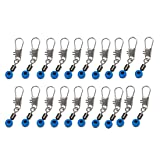 Blue Fishing Line to Hook Swivels Shank Clip Connector 20pcs