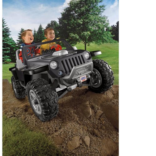 Power Wheels Fisher-Price Jeep Hurricane Ride On Black front-616802