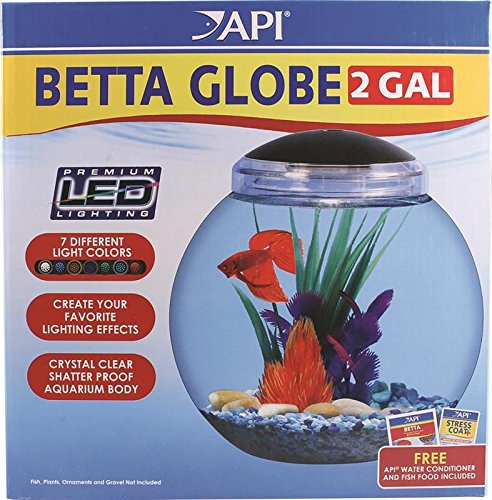 API Betta Kit Globe Fish Tank, 2-Gallon (2 Gallon Plastic Fish Bowl compare prices)