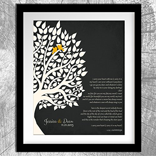 Wedding Gift For Mom Second Marriage : ... Gift For Couple Family Wedding Poem Tree First 2nd 10th Gift For Mom