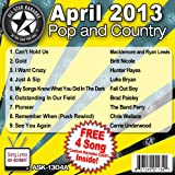 All Star Karaoke April 2013 Pop and Country Hits A (ASK-1304A)