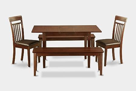 East West Furniture NOCA5C-MAH-LC 5-Piece Kitchen Table Set
