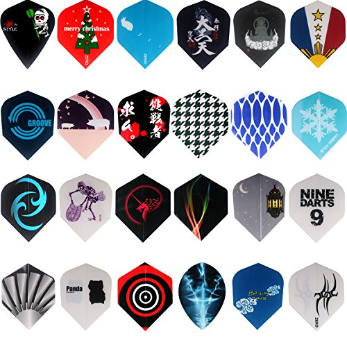 Review Of MAXMAU 24 Sets 72 pcs Dart Flights Darts Accessory Feather Tail Wing Flight Outdoor Sports...